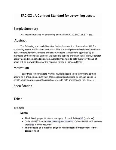 ERC-XX _ A Contract Standard for co-owning assets (Page 1)